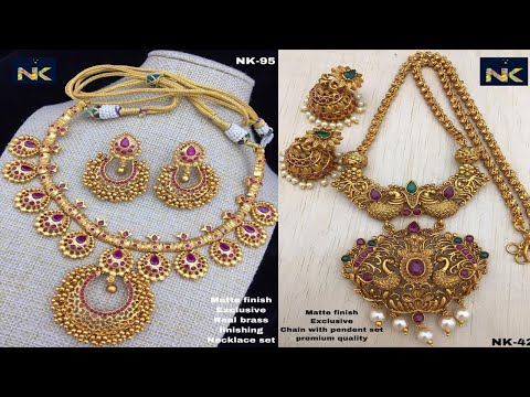 Latest One Gram Gold Pendant Set Design Collections For Best Price