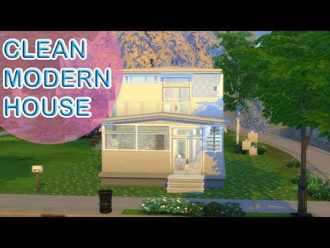 Clean Modern House // The Sims 4 Speed Build