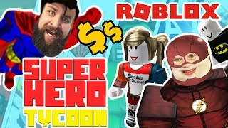 Superhero Tycoon ROBLOX Game Play! Superman, Angry Flash and Blue Spider-Man by Epic Family Gaming