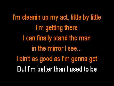 Better Than I Used To Be Karaoke avi Low