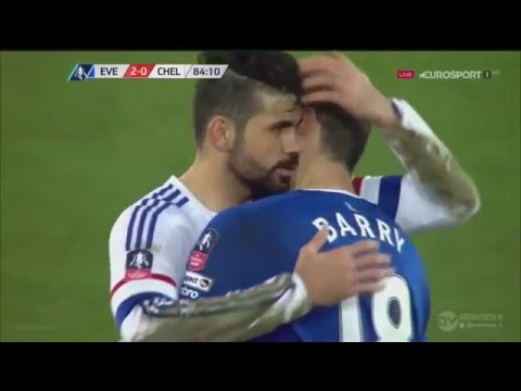 Diego Costa bites like Luis Suarez - Diego Costa vs Gareth Barry HD
