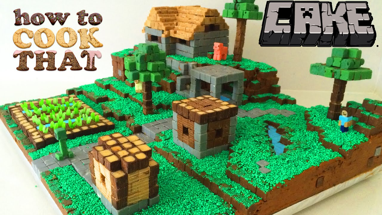 Download MINECRAFT CAKE VILLAGE How To Cook That Ann Reardon