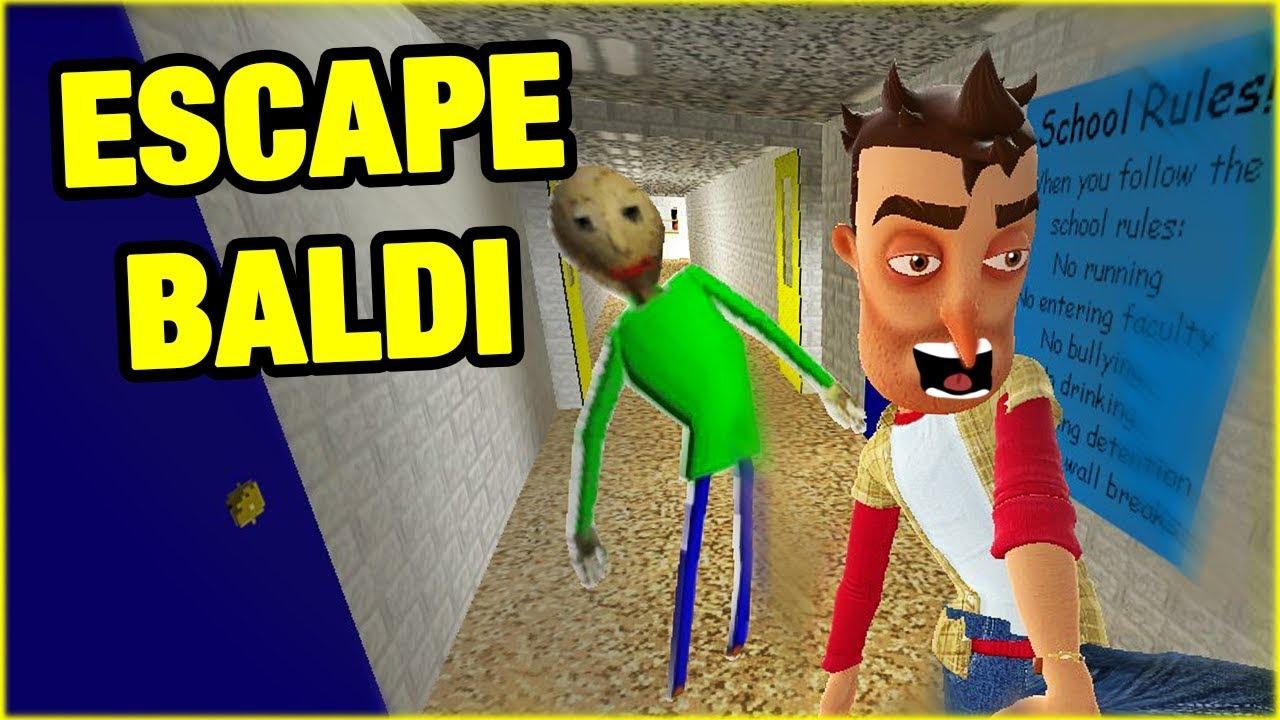 ESCAPE BALDI'S SCHOOL!! – THE PLAYER VS BALDI Gmod – GamePlay Video