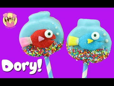 FINDING DORY MARSHMALLOW POPS - Fish Bowl Aquarium Birthday Treat