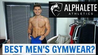 HUGE ALPHALETE Men's Clothing Haul & Try-On | Best Men's Gymwear?