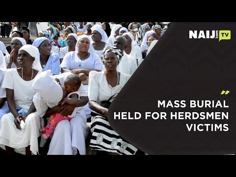 Victims of Herdsmen killing buried in Benue State