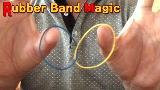 Repeat youtube video The moment Linking Rubber Band magic 一瞬でリンクする 輪ゴム マジック
