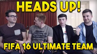 FIFA 16 | HEADS UP with CAPGUNTOM AJ3FIFA AND THEGAMERCAN | FIFA 16 ULTIMATE TEAM