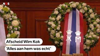 AFSCHEID: Oud premier Wim Kok herdacht in Amsterdam