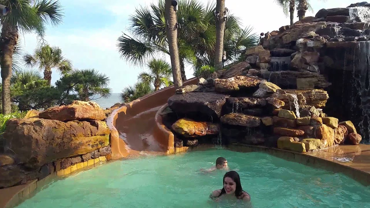 hotel pool san luis resort galveston youtube. Black Bedroom Furniture Sets. Home Design Ideas