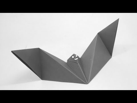 How To Fold An Origami Bat - Diy Paper Bat - Easy Origami Paper Craft Bat - Without Glue Or Tape