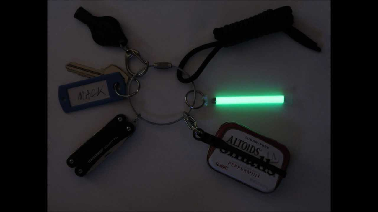 Glow fob emer fire kit survival keychain homemade youtube for What is touchofmodern