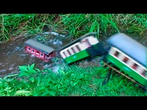 G-Scale Model Sinks in Train Wreck