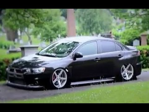 Mitsubishi Lancer Evo >> BAGGED MITSUBISHI LANCER EVO X MR ON VOSSEN RIMS MUSIC VID ...
