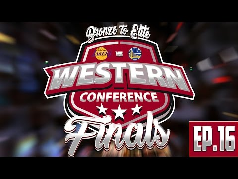 WESTERN CONFERENCE FINALS! Bronze to Elite Ep.16! NBA Live Mobile Gameplay