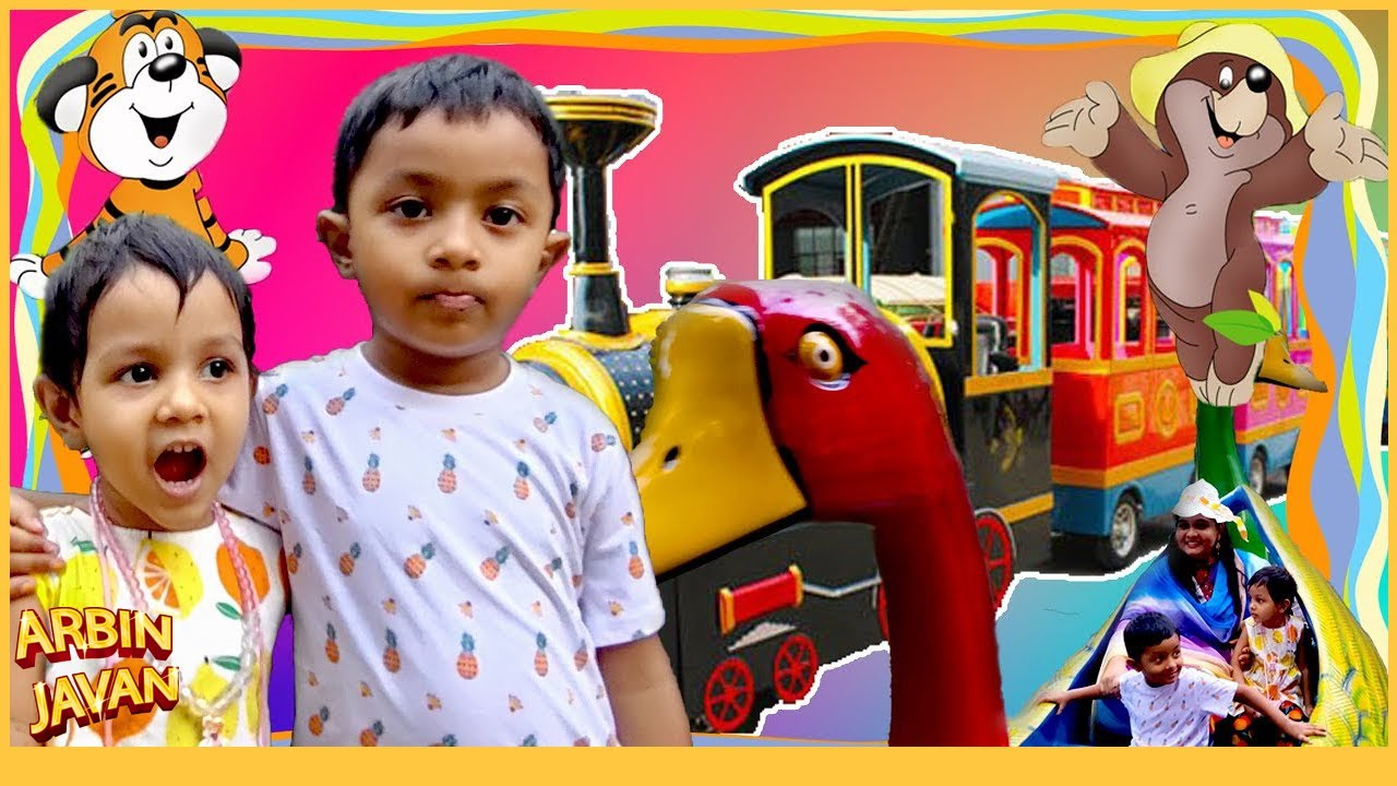 Visiting Kids Park & Fun Playing with Riders & Toys - Arbin Ayra Excited in Theme Park
