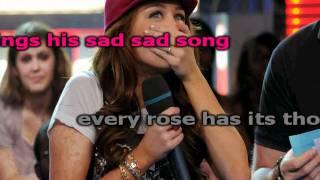 Miley Cyrus Every Rose Has It's Torn Karaoke (HD)