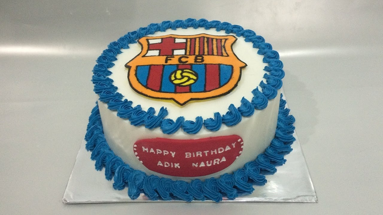Fc Cake Design Roma : Barcelona Cake FCB How to Make - YouTube