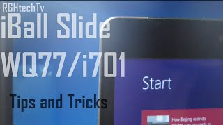 iBall Slide WQ77 / i701 Windows 8.1 Tablet - Tips and Tricks