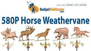 Budgetmailboxes.com | Good Directions 580p Horse Weathervane - Polished Copper