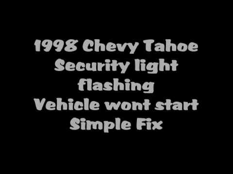 Chevy tahoe flashing security light engine cranks but wont stay chevy tahoe flashing security light engine cranks but wont stay running aloadofball Image collections