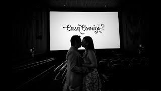 o pedido de casamento no cinema