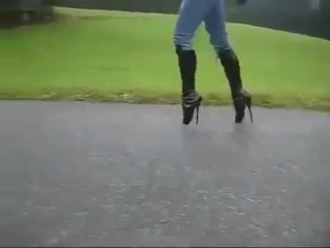 909078e6179f Highest heels ever - YouTube