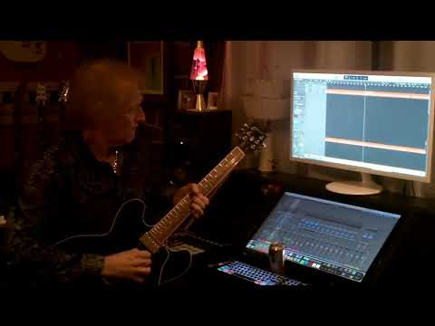 In the Studio Kenny Lee Laying down the Guitar solo to one of our brand new songs