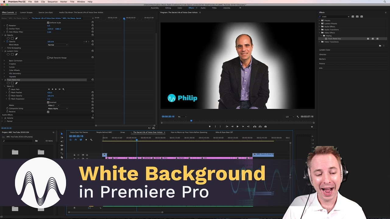 How to Create a Perfectly White Background in Premiere Pro