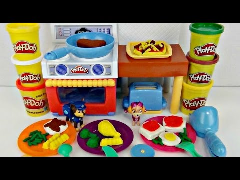 Play-doh Fun with Food, Meal Making Kitchen, Oven, Toaster, Pizza DIY, PAW PATROL / TUYC