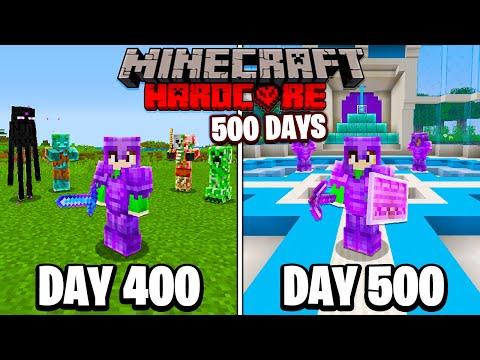 I Survived 500 Days in HARDCORE Minecraft... - Fru