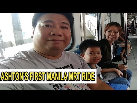 ASHTON'S FIRST MANILA MRT RIDE
