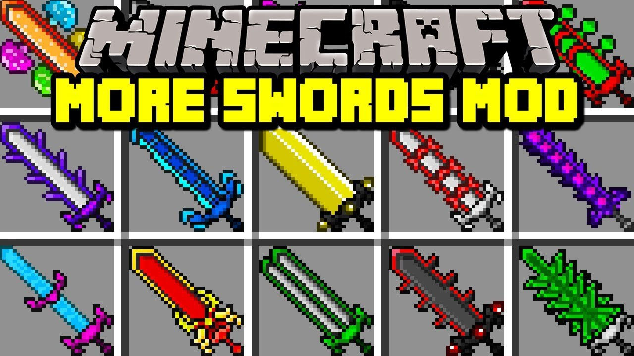 Minecraft MORE SWORDS MOD! | CRAFT SWORDS WITH UNLIMITED ...