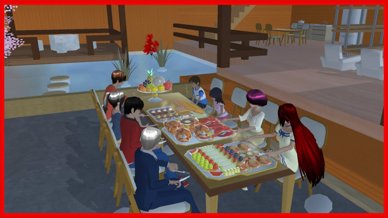 Family Party At Japanese House || SAKURA School Simulator
