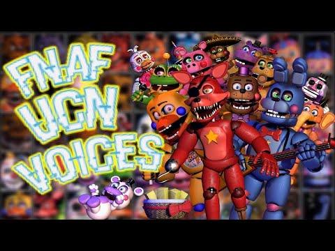 FNaF Ultimate Custom Night - Voices - (Animated Slideshow Style)