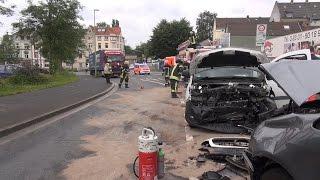 Wieder schwerer Frontalzusammenstoß in Hagen – Zwei Verletzte