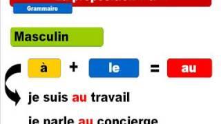 """French lesson : La préposition """"à"""" avec les articles définis"""