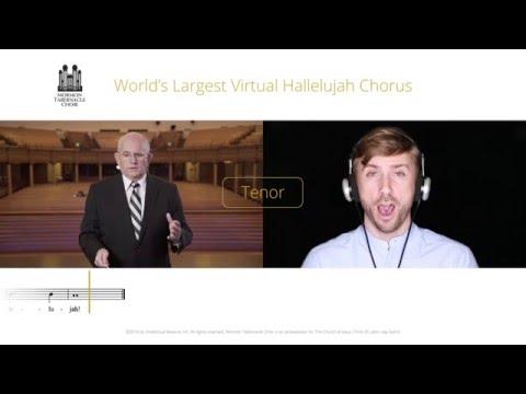 Tenor Part for #Hallelujah Virtual Choir - Mormon Tabernacle Choir