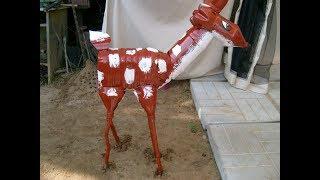 как сделать оленя из пластиковых бутылок для сада Creativity & Art of Olga Mishina