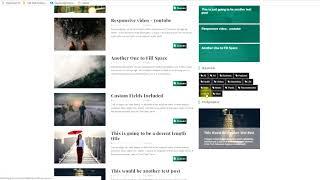 видео Тип меню: шаблон блога категории