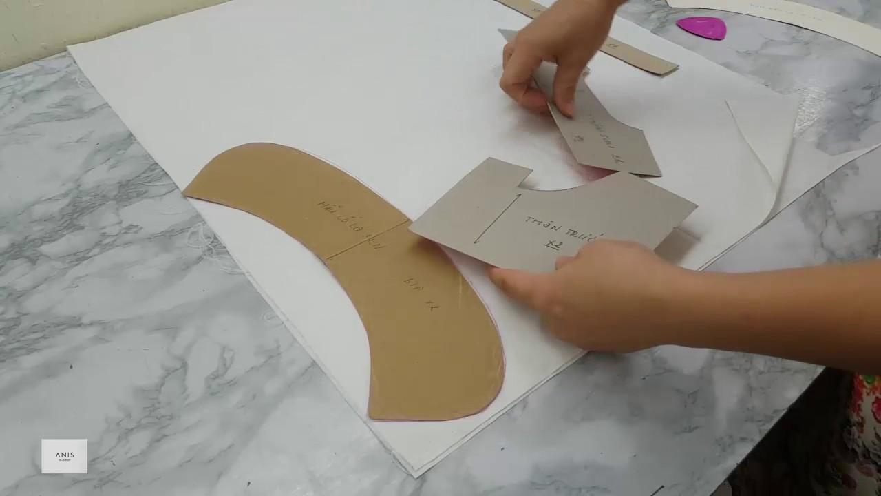 [Bài 5] – Hướng dẫn may mẫu cổ lá sen (phần 1) | Học may online | Học cắt may cơ bản Hà Nội