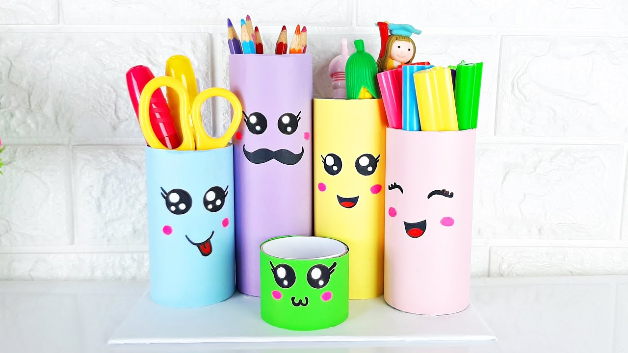 DIY Pen Stand | Pencil Stand | DIY Pencil Holder Recycled