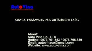 Crack password PLC Mitsubishi FX3G