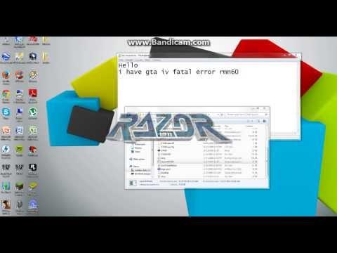 GTA 4: FATAL ERROR RMN60 (PLEASE HELP!!!)