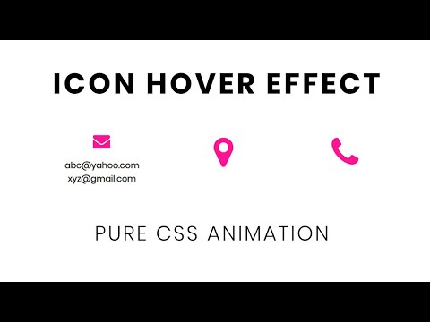 Pure CSS Icon Hover Animation   CSS Hover Effects