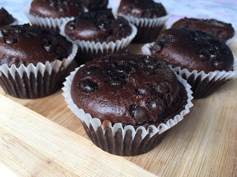 BEST Eggless Chocolate Muffins Without Condensed Milk | How To Make Eggless Chocolate Muffins