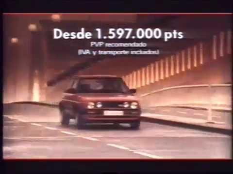 Interpretación Cadera Podrido  Anuncio Volkswagen Golf - 1990 - YouTube