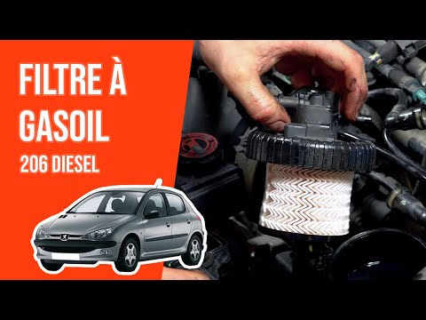 tuto peugeot 206 diesel changer le filtre gasoil youtube. Black Bedroom Furniture Sets. Home Design Ideas