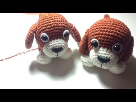 ถักตุ๊กตาโครเชต์น้องหมาน้ำตาลปึก Part 3-3/Brown Sugar Puppy Amigurumi Part 1/ English Subtitles