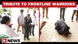 Tamil Nadu: Dean Of ESI Hospital Kneels Down In Front Of Nurses, Thanks Them For COVID Service